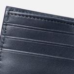 Женский кошелек Maison Kitsune Leather Dark Navy фото- 4