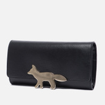 Женский кошелек Maison Kitsune Long Leather Black фото- 1
