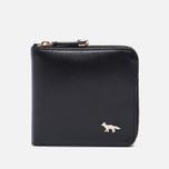 Женский кошелек Maison Kitsune Zipped Leather Black фото- 0
