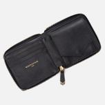 Женский кошелек Maison Kitsune Zipped Leather Black фото- 2