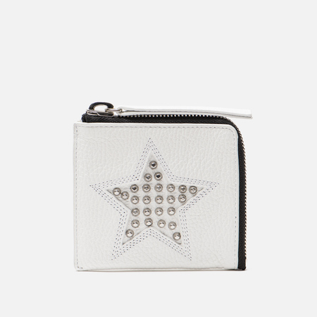 Женский кошелек McQ Alexander McQueen Zip Grainy Leather Optic White