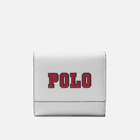 Кошелек Polo Ralph Lauren Varsity Polo Nappa Optic White