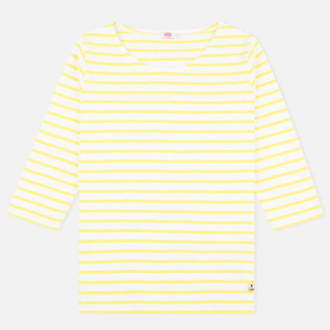 Женский лонгслив Armor-Lux Sailor Heritage Off White/Solar Yellow