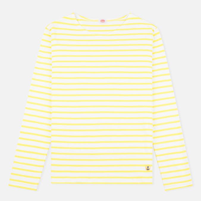 Женский лонгслив Armor-Lux Sailor Off White/Solar Yellow