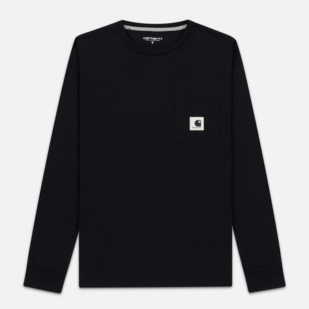 Женский лонгслив Carhartt WIP W' L/S Pocket Black/Grey Heather