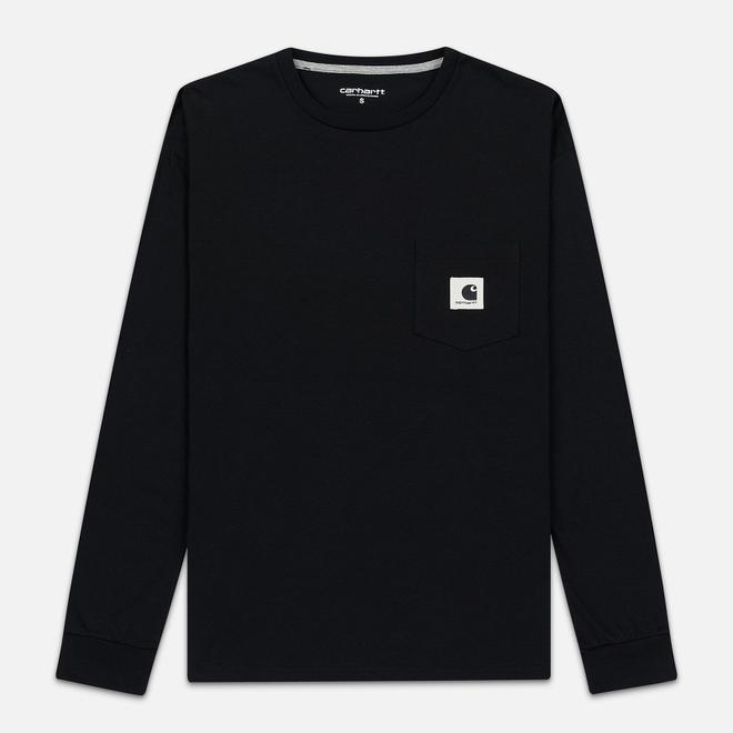 Женский лонгслив Carhartt WIP W' L/S Pocket Black/Grey Heather