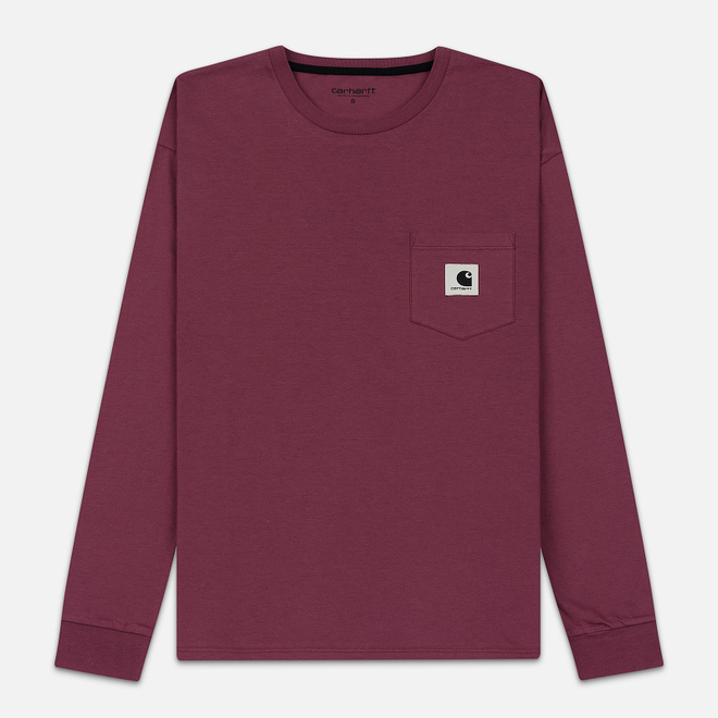 Женский лонгслив Carhartt WIP W' L/S Pocket Dusty Fuchsia/Black