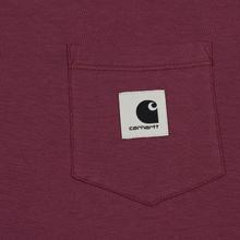 Женский лонгслив Carhartt WIP W' L/S Pocket Dusty Fuchsia/Black фото- 2