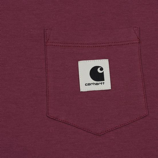 Женский лонгслив Carhartt WIP W' L/S Pocket Dusty Fuchsia/Black