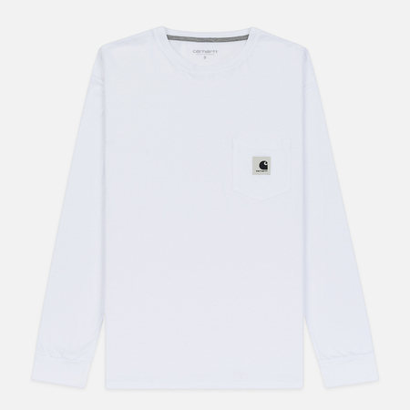 Женский лонгслив Carhartt WIP W' L/S Pocket White/Grey Heather