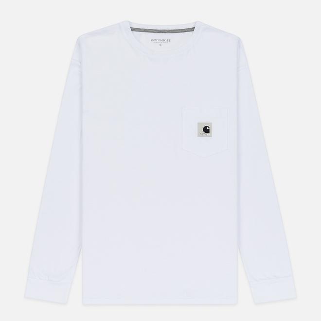 Женский лонгслив Carhartt WIP W' L/S Pocket White/Grey Heather