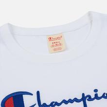 Женский лонгслив Champion Reverse Weave Big Script Cropped White фото- 1