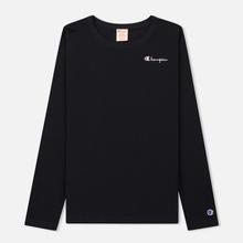 Женский лонгслив Champion Reverse Weave Small Logo Script Embroidered Black фото- 0