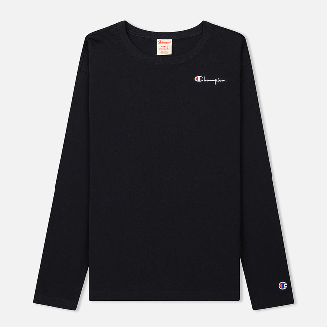 Женский лонгслив Champion Reverse Weave Small Logo Script Embroidered Black