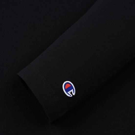Женский лонгслив Champion Reverse Weave Small Logo Script Embroidered Black