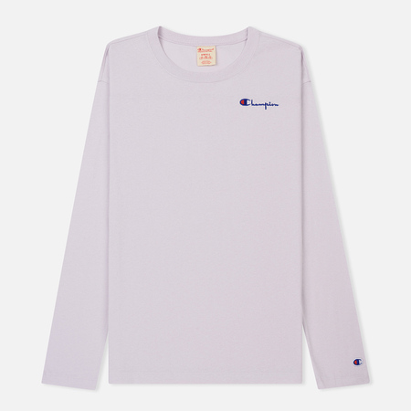 Женский лонгслив Champion Reverse Weave Small Logo Script Embroidered Lavender