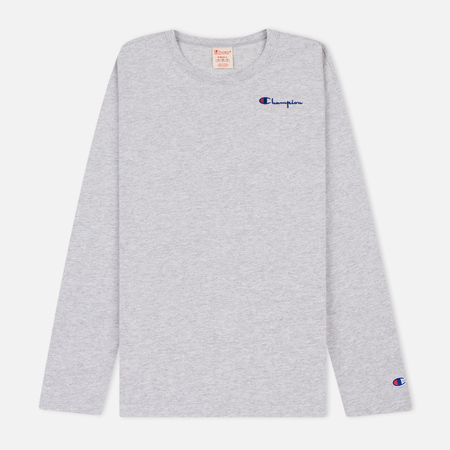 Женский лонгслив Champion Reverse Weave Small Logo Script Embroidered Light Grey
