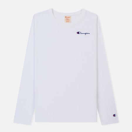 Женский лонгслив Champion Reverse Weave Small Logo Script Embroidered White