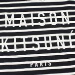 Женский лонгслив Maison Kitsune Marin Cropped Black Ecru фото- 2