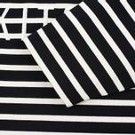Женский лонгслив Maison Kitsune Marin Cropped Black Ecru фото- 3