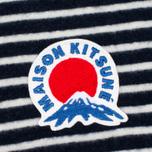 Женский лонгслив Maison Kitsune Marin Cropped Navy фото- 2