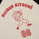 Женский лонгслив Maison Kitsune MK 08 Ecru Melange фото- 4