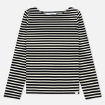 Женский лонгслив Norse Projects Inge Classic Stripe Dark Navy фото- 0