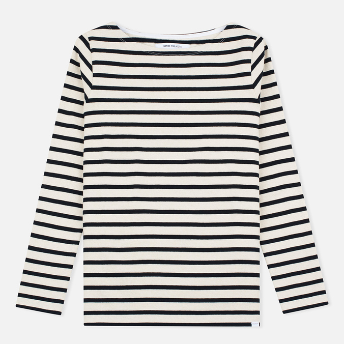 Женский лонгслив Norse Projects Inge Stripe Ecru/Navy