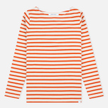 Norse Projects Inge Stripe Women's Longsleeve Ecru/Orange photo- 0