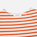 Norse Projects Inge Stripe Women's Longsleeve Ecru/Orange photo- 1