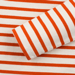 Norse Projects Inge Stripe Women's Longsleeve Ecru/Orange photo- 2