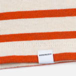 Norse Projects Inge Stripe Women's Longsleeve Ecru/Orange photo- 3