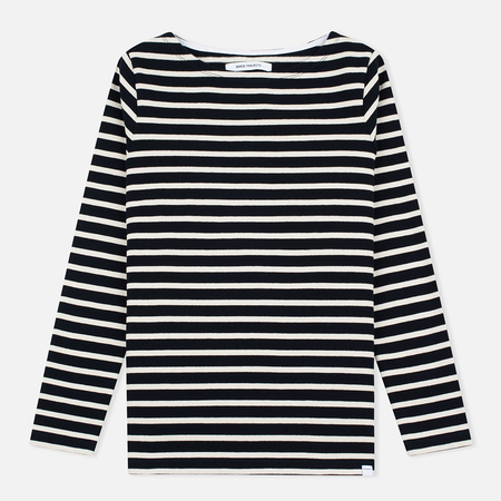Norse Projects Inge Stripe Women's Longsleeve Navy/Ecru
