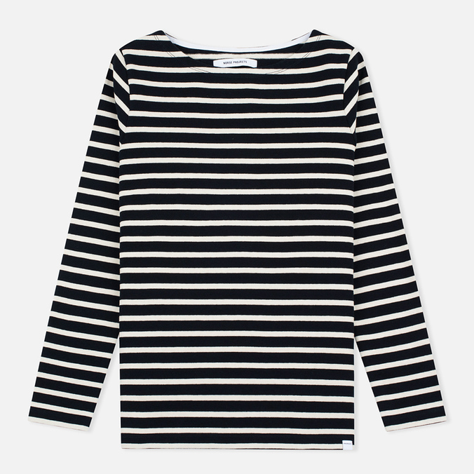 Женский лонгслив Norse Projects Inge Stripe Navy/Ecru