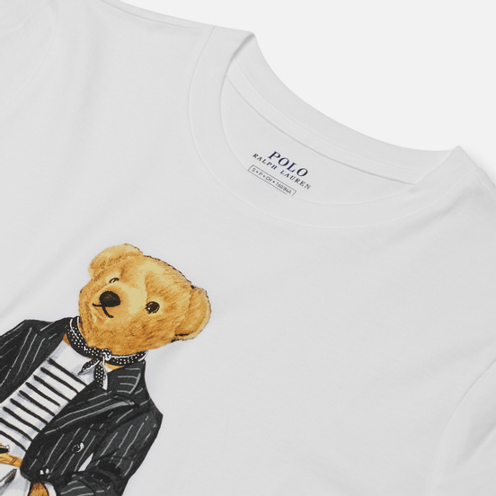 Женский лонгслив Polo Ralph Lauren Bear Parisian Inspired Attire White