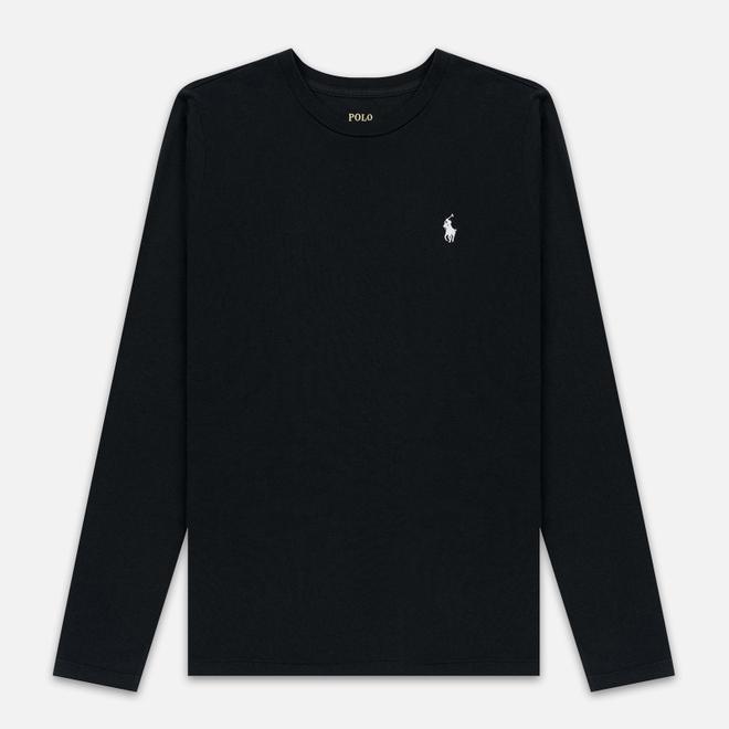 Женский лонгслив Polo Ralph Lauren Crew Neck 30/1 Cotton Jersey Black