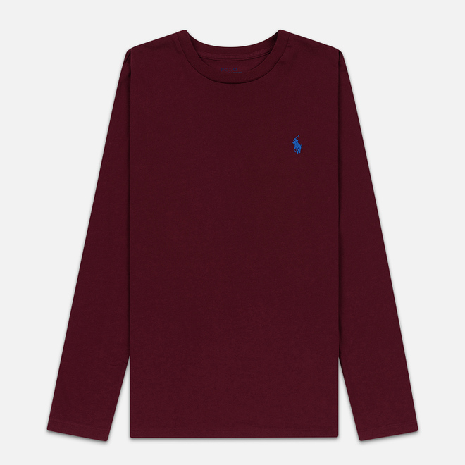 Женский лонгслив Polo Ralph Lauren Crew Neck 30/1 Cotton Jersey Classic Wine