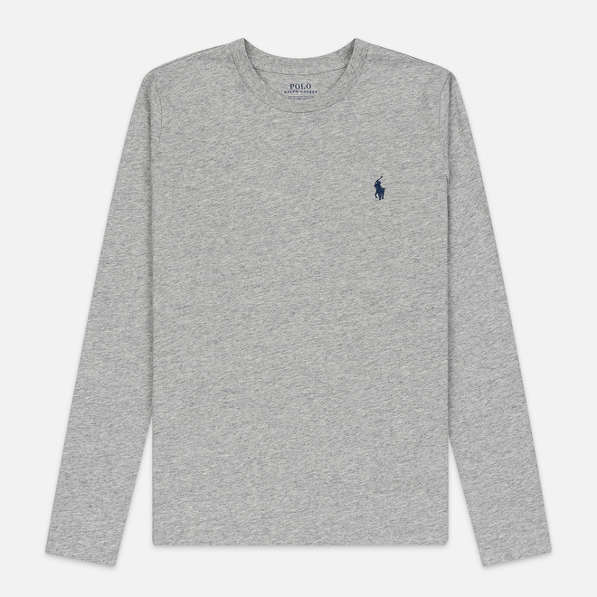 Женский лонгслив Polo Ralph Lauren Crew Neck 30/1 Cotton Jersey Cobblestone Heather