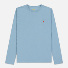 Женский лонгслив Polo Ralph Lauren Crew Neck 30/1 Cotton Jersey Powder Blue фото- 0