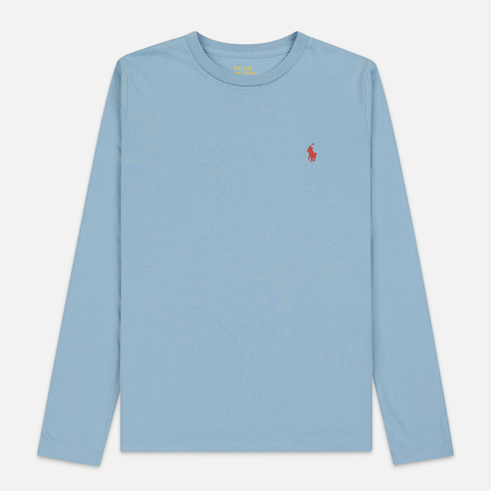 Женский лонгслив Polo Ralph Lauren Crew Neck 30/1 Cotton Jersey Powder Blue