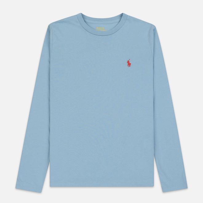Женский лонгслив Polo Ralph Lauren Crew Neck 30/1 Cotton Jersey Powder Blue