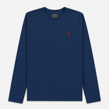 Женский лонгслив Polo Ralph Lauren Crew Neck 30/1 Cotton Jersey Rustic Navy фото- 0