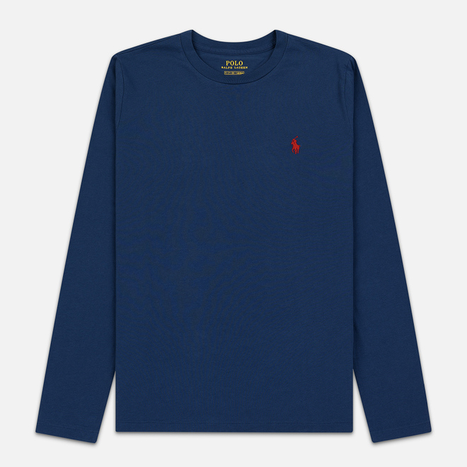 Женский лонгслив Polo Ralph Lauren Crew Neck 30/1 Cotton Jersey Rustic Navy