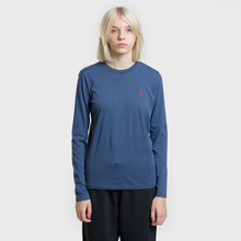 Женский лонгслив Polo Ralph Lauren Crew Neck 30/1 Cotton Jersey Rustic Navy фото- 1