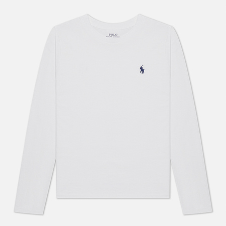 Женский лонгслив Polo Ralph Lauren Crew Neck 30/1 Cotton Jersey White