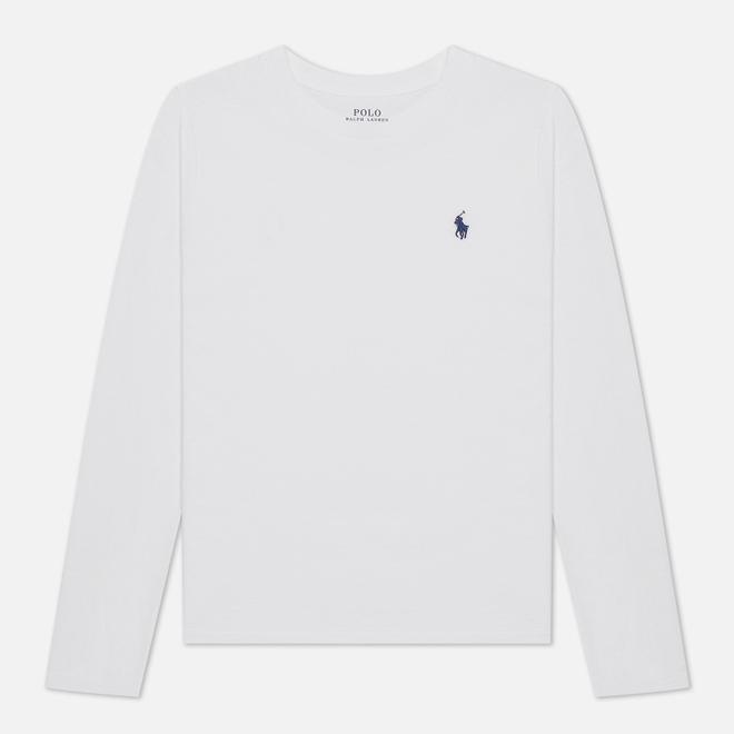 Женский лонгслив Polo Ralph Lauren Crew Neck 30/1 Cotton Jersey White