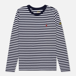 Женский лонгслив Polo Ralph Lauren Stripe Polo Pony Mini Logo Cruise Navy/White