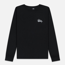 Женский лонгслив Stussy Basic Logo Pigment Dyed Black фото- 0