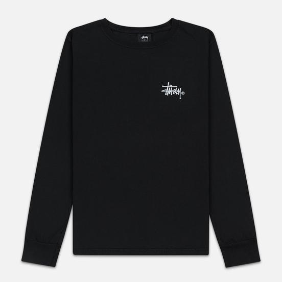Женский лонгслив Stussy Basic Logo Pigment Dyed Black