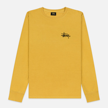Женский лонгслив Stussy Basic Logo Pigment Dyed Mustard фото- 0